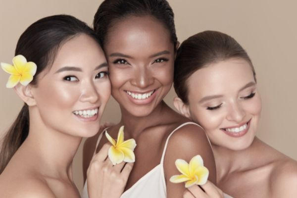 diversity natural beauty portrait multiethnic women with tropical picture id1250649448 1